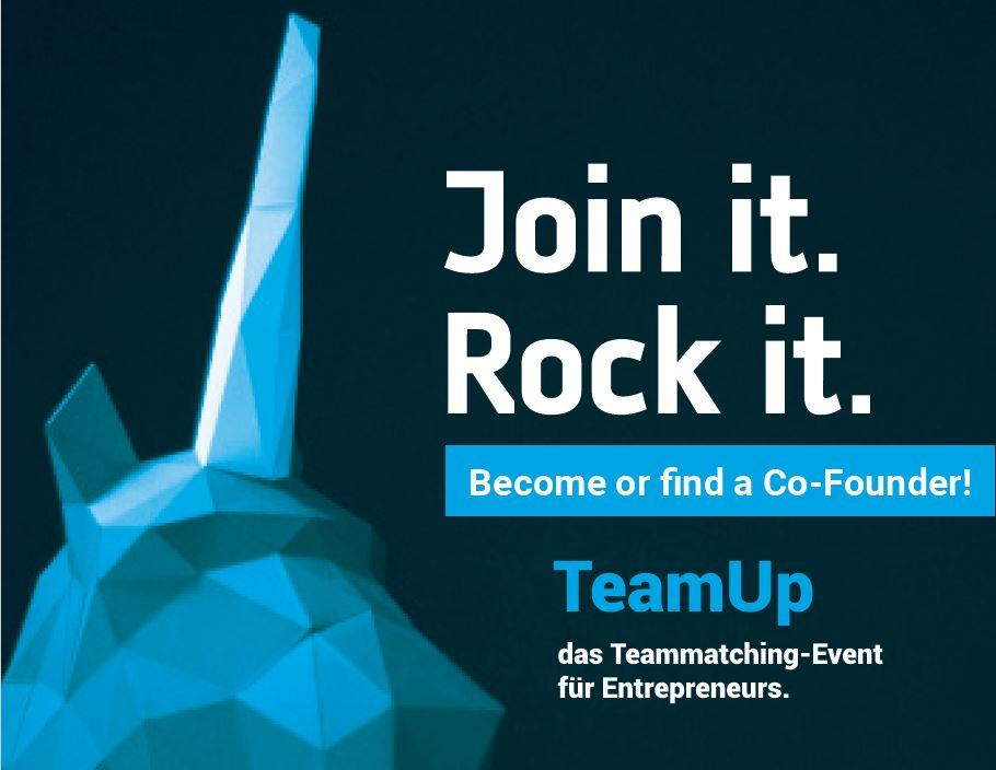 Team UP, Teammatching-Event für Entrepreneurs