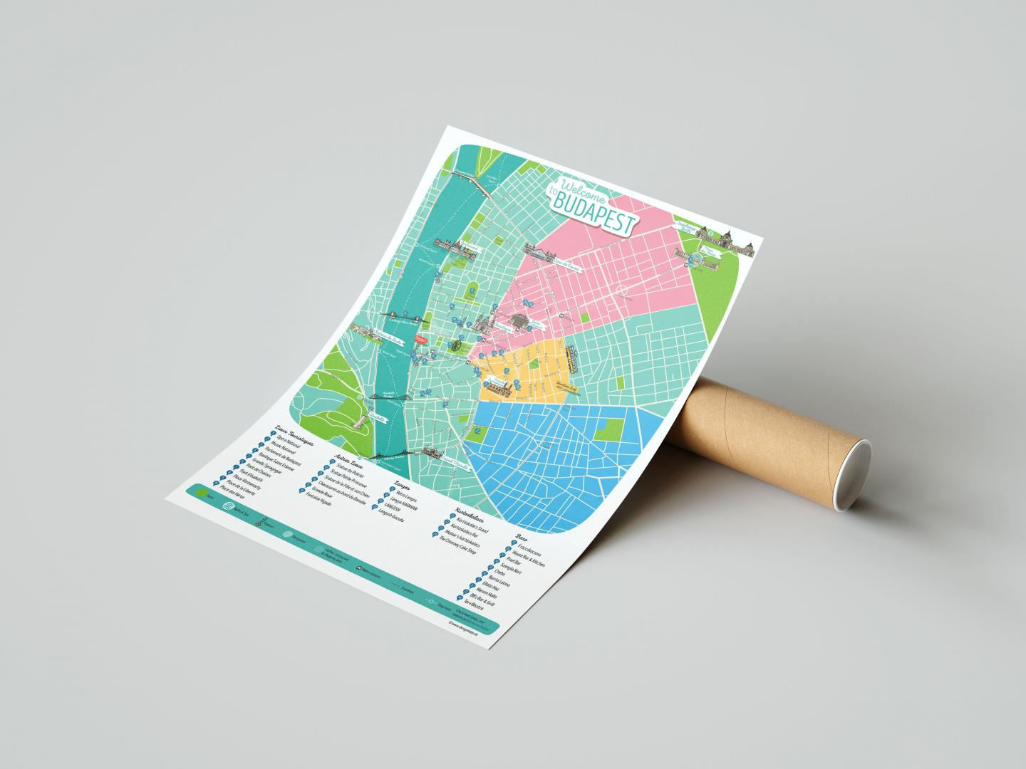 Designliebe Referenz SEE YOU BUDAPEST - EVENTS - Custom Made City Map